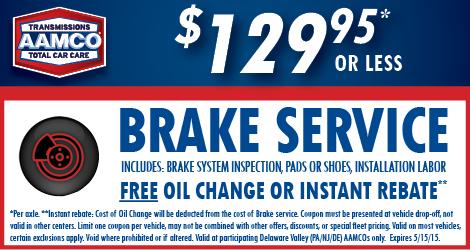 New Brake Special!